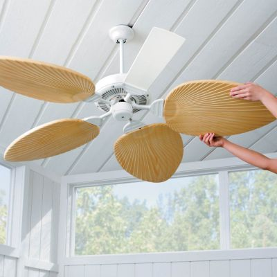 Palm-Leaf Ceiling Fan Blades-Set of 5