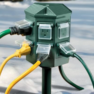 Weatherproof Outdoor Timer Power Strip