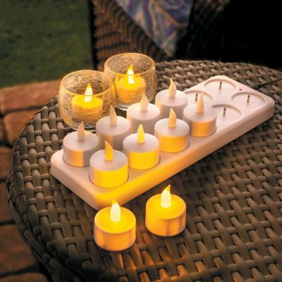 Rechargeable Tea Light Candles-Set of 12