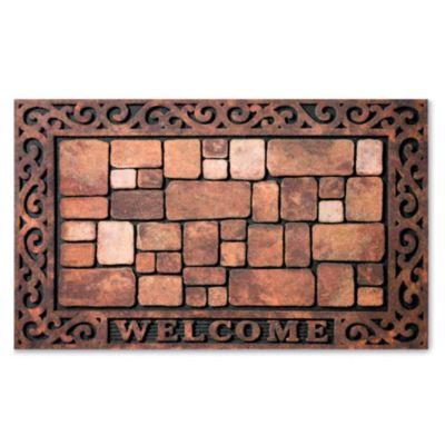 Cobblestone Welcome Door Mat
