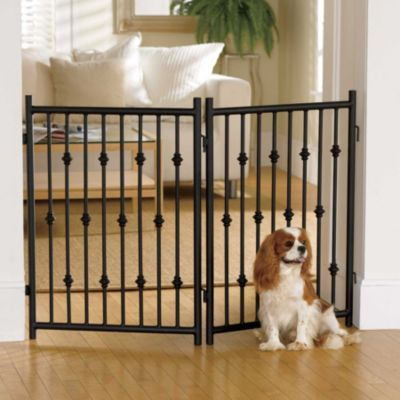 Free Standing Wrought Iron Pet Gate