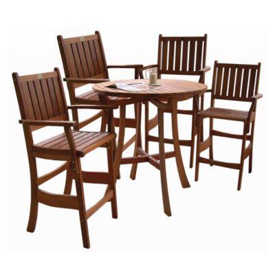Espresso Pub Chairs-Set of 2
