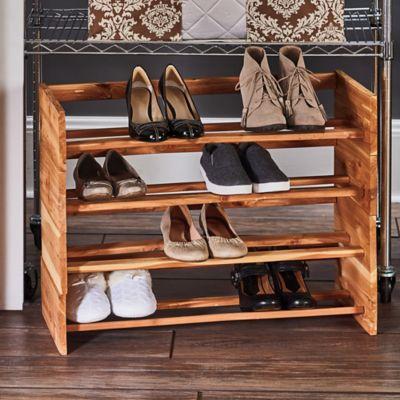 2 Level Cedar Shoe Rack