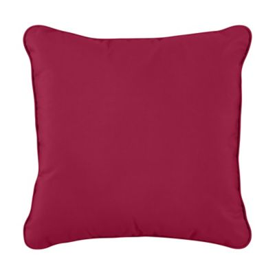 "Sunbrella Throw Pillow 17""x17""x6"" - Blush"