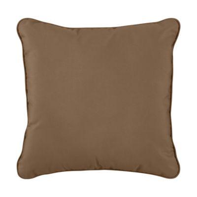 "Sunbrella Throw Pillow 17""x17""x6"" - Camel"