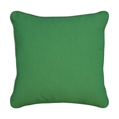 "Sunbrella Throw Pillow 17""x17""x6"" - Emerald"