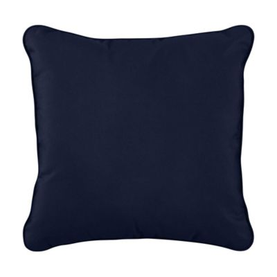 "Sunbrella Throw Pillow 17""x17""x6"" - Navy"