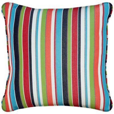 "Sunbrella Throw Pillow 20""x20""x6"" - Carousel Confetti Stripe"