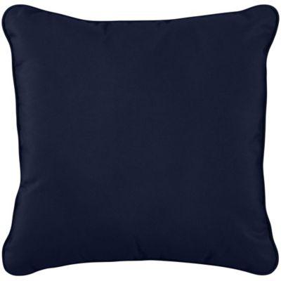 """Sunbrella Throw Pillow 20""""x20""""x6"""" - Navy"""