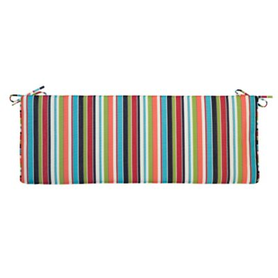 "Sunbrella Bench Cushion (Box) 18""x54""x4"" - Carousel Confetti"