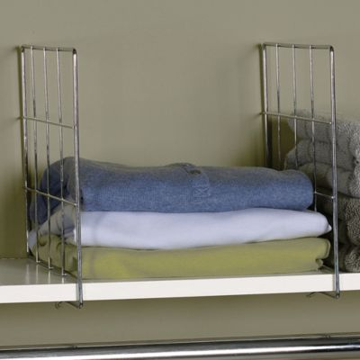 Wire Shelf Dividers for Wood Shelves-Set of 2