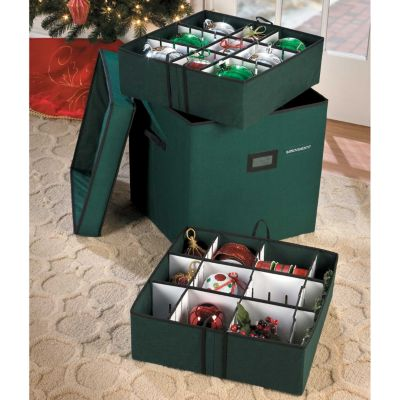 Large Adjustable Ornament Storage Box