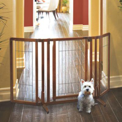 Freestanding Pet Gate with Door