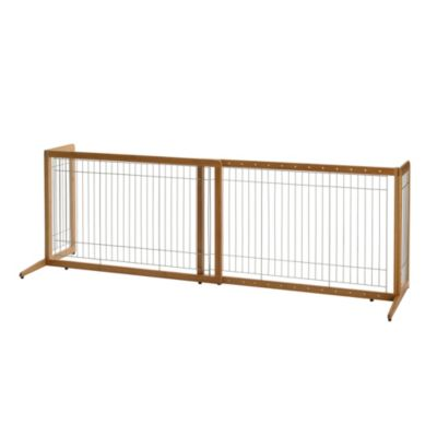 Bamboo Freestanding Adjustable Pet Gate
