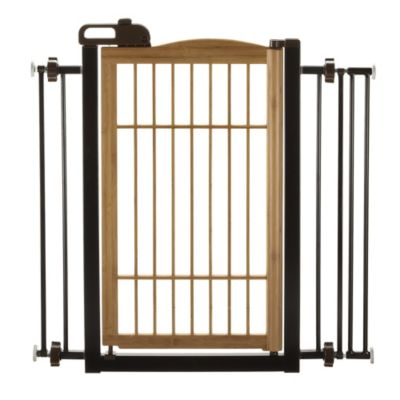 Bamboo One-Touch Pet Gate