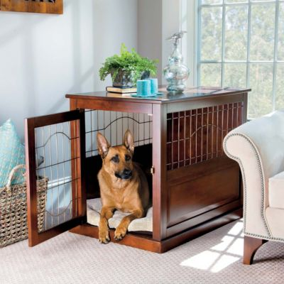 Coventry Wood/Metal Pet Crate Table