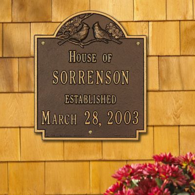 Personalized Cardinal Anniversary Wall Plaque