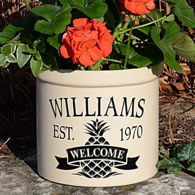 Personalized Pineapple Welcome Crock