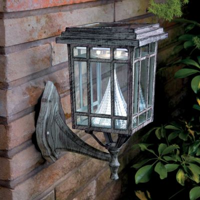 Mission Style Solar Lamp with 3 Mount Options