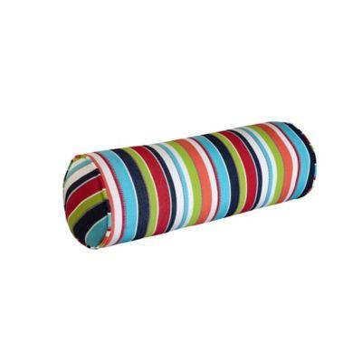 """Sunbrella Bolster Pillow 21""""x7"""" Dia. - Carousel Confetti"""