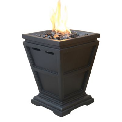 LP Gas Pillar Outdoor Fireplace