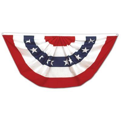 Patriotic Fan Bunting-3'