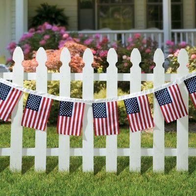 US Flag Garland-12'