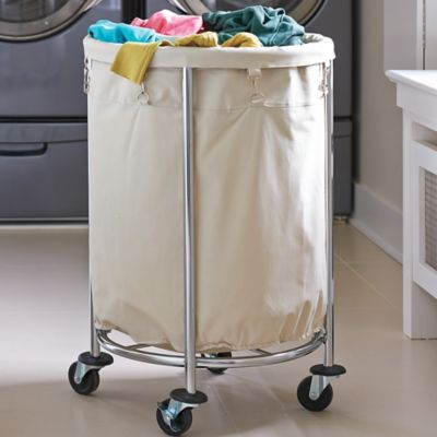 Oversized Chrome Laundry Hamper