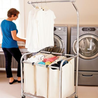 Chrome Triple Laundry Sorter Hanger