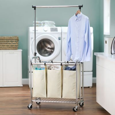 Chrome Triple Laundry Sorter
