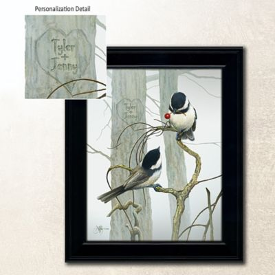 "Love Birds Personalized Wall Art-14"" x 17"""