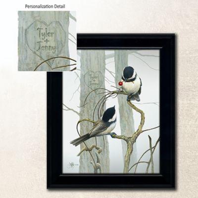 "Love Birds Personalized Wall Art-14"" x 17"""