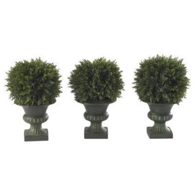Cedar Ball Topiary Trio