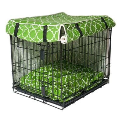 Molly Mutt Crate Covers-Title Track Green/White