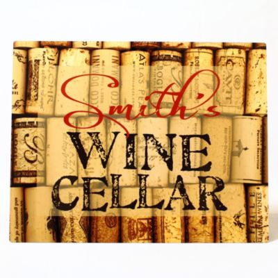 "Personalized Wine Cellar Aluminum Sign-14"" x 11"""