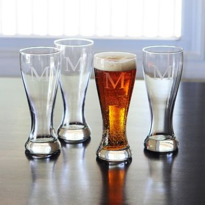 Personalized Pilsner Glasses-Set of 4