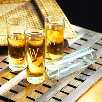 Personalized Island Shooter Glasses-Set of 4