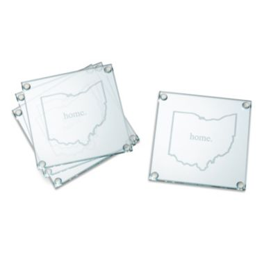 Home State Glass Coasters-Set of 4