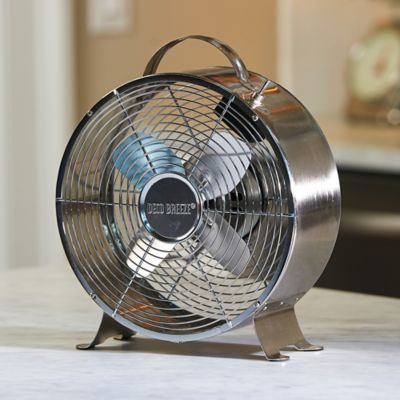 DecoBreeze Retro Metal Box Fan