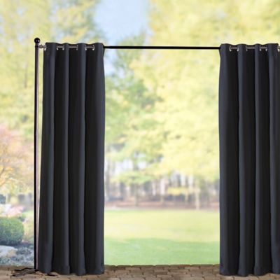 Sunbrella Outdoor Curtain Panel-Black