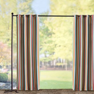 Sunbrella Outdoor Curtain Panel-Carousel Confetti Stripe