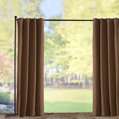 Sunbrella Outdoor Curtain Panel-Teak
