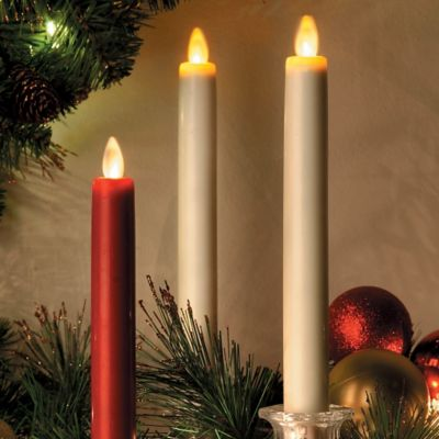 Mystique Flameless Taper Candle-8""