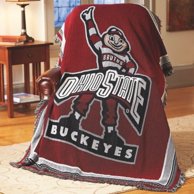 College Logo Tapestry Throw