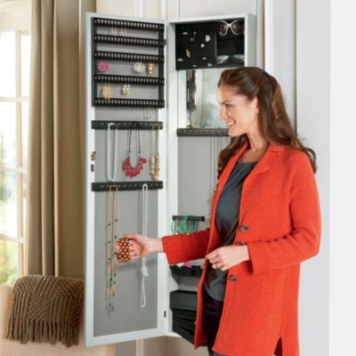 Cynthia Over the Door Jewelry Cabinet with Full