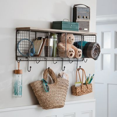 Wood & Wire 4-Cube Organizer