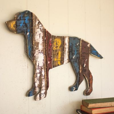 Reclaimed Wood Dog Wall Art