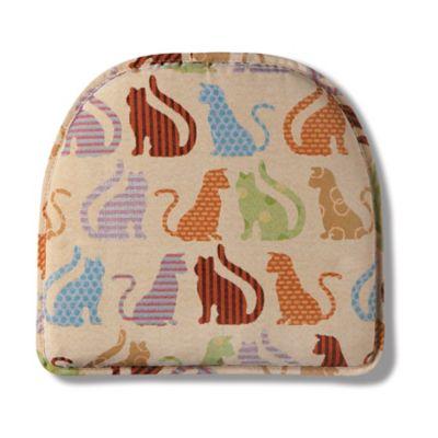 Animal Print Gripper Chair Pad