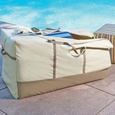 Cushion/Pouf Ottoman Storage Bag
