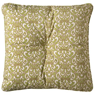 "25"" Tufted Throw Pillow/Cushion 25""x25""x6"" - Etched Filigree"